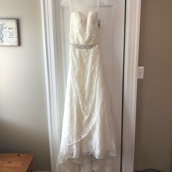 David's Bridal Dresses & Skirts - Strapless Wedding Gown w/ Belt